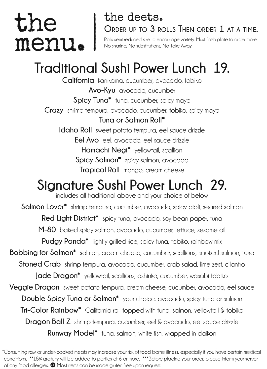 Sushi Power Lunch